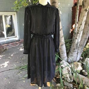 Vintage sheer Saks Fifth Avenue Dress